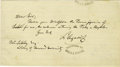 """Autographs:Inventors, Scientist Louis Agassiz Autograph Letter Signed """"LsAgassiz"""". One page, 7.5"""" x 4.25"""", undated, to Mr. Libley,Library of... (Total: 1 Item)"""