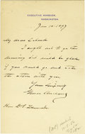 "Autographs:U.S. Presidents, Grover Cleveland Autograph Letter Signed as President ""GroverCleveland"". One page, 4.5"" x 7"", on Executive Mansion lett...(Total: 1 Item)"