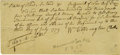 """Autographs:Military Figures, 1779 Revolutionary War Pay Voucher Signed """"Col. HenrySherburne"""". One page, 7.25"""" x 3.5"""", dated August 2, 1779, withend... (Total: 1 Item)"""