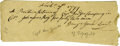 """Autographs:Military Figures, 1777 Revolutionary War Provisions Receipt Document. One page, 6"""" x 2"""", dated November 19, 1777. It reads in full: """"A Prov... (Total: 1 Item)"""