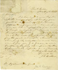 "Autographs:Statesmen, John C. Calhoun Autograph Letter Signed ""J. C. Calhoun"". Onepage, 8"" x 9.75"", Fort Hill, August 9, 1838, to Mr. Ogden N...(Total: 1 Item)"