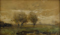 Fine Art - Painting, European:Modern  (1900 1949)  , WILLIAM MARIS (Dutch 1844-1910). Pasture. Watercolor and crayon on paper. 12-3/4 x 8 inches (32.4 x 20.3 cm). Signed low...