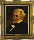 "Political:3D & Other Display (1896-present), Andrew Jackson and Rachel Jackson Oil Portraits by LawrenceWilliams. Each oil portrait is 16"" x 20"" and framed in gilt to a...(Total: 2 Item)"