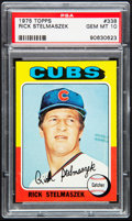 Baseball Cards:Singles (1970-Now), 1975 Topps Rick Stelmaszek #338 PSA Gem Mint 10....