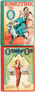 Books:Children's Books, L. Frank Baum. Pair of Later Edition OZ Books. Chicago: The Reilly& Lee Co., [n.d., circa 1935]. Includes Ozma of O... (Total:2 Items)