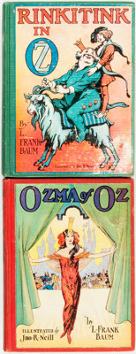 L. Frank Baum. Pair of Later Edition OZ Books. Chicago: The Reilly & Lee Co., [n.d., circa 1935]. Includes