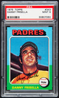 Baseball Cards:Singles (1970-Now), 1975 Topps Danny Frisella #343 PSA Mint 9....