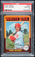 Baseball Cards:Singles (1970-Now), 1975 Topps Tony Muser #348 PSA Gem Mint 10....