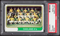 Baseball Cards:Singles (1970-Now), 1974 Topps A's Team #246 PSA Gem Mint 10....