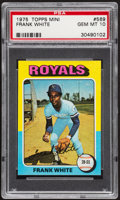 Baseball Cards:Singles (1970-Now), 1975 Topps Mini Frank White #569 PSA Gem Mint 10....