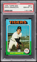 Baseball Cards:Singles (1970-Now), 1975 Topps Mini Dave Lemanczyk #571 PSA Gem Mint 10 - Pop Three....