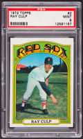 Baseball Cards:Singles (1970-Now), 1972 Topps Ray Culp #2 PSA Mint 9....