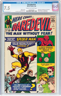 Daredevil #1 (Marvel, 1964) CGC VF- 7.5 Cream to off-white pages