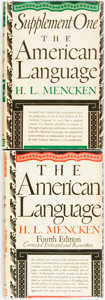 Books:Reference & Bibliography, H. L. Mencken. The American Language. New York: Alfred A.Knopf, 1945. Fourth edition, ninth printing. [Together wit...(Total: 2 Items)
