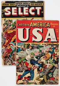 Timely Super Hero Group of 2 (Timely, 1944-45).... (Total: 2 Comic Books)