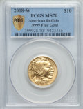2008-W $10 Quarter-Ounce Gold American Buffalo MS70 PCGS Secure. .9999 Fine Gold. PCGS Population (300). NGC Census: (0)...