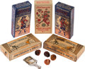 Baseball Cards:Unopened Packs/Display Boxes, C. 1910's John H. Dockman 5-Cent Candy & Toy Boxes Collection(5). ...