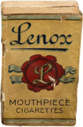 "Baseball Cards:Unopened Packs/Display Boxes, C. 1910 ""Lenox Mouthpiece Cigarettes"" 10-Count Box. ..."