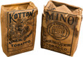 "Baseball Cards:Unopened Packs/Display Boxes, Extremely Rare People's Tobacco ""Mino"" and ""Kotton"" TobaccoPackages Pair (2). ..."