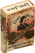 """Baseball Cards:Unopened Packs/Display Boxes, Extremely Rare 1880's """"Lone Jack"""" Cigarettes Slide Tray & ShellStyle Pack. ..."""