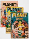 Golden Age (1938-1955):Science Fiction, Planet Comics Group of 4 (Fiction House, 1947-52) Condition:Average GD.... (Total: 4 Comic Books)