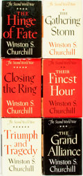 Books:Biography & Memoir, Winston Churchill. The Second World War, Vols. I-VI. Boston:Houghton Mifflin Company, [1948-1953]. First editio... (Total: 6Items)