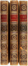 Books:Periodicals, [Bound Periodicals]. The Mirror. A Periodical Paper, Publishedat Edinburgh in the Years 1779, and 1780, Vols. I-I... (Total:3 Items)