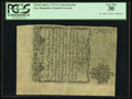 Colonial Notes:New Hampshire, Thin Paper Cohen Reprint New Hampshire April 1, 1737 3s PCGS VeryFine 30.. ...