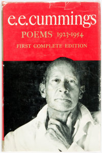 E. E. Cummings. SIGNED. Poems. 1923-1954. New York: Harcourt, Brace and Company, [1954]. Stated
