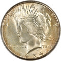 Peace Dollars, 1934-S $1 Doubled Tiara, VAM-3, MS65 PCGS. CAC....