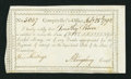 Colonial Notes:Connecticut, Connecticut Interest Payment Certificate 5s 1792 CT-50 Very Fine.....