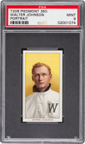 Baseball Cards:Singles (Pre-1930), 1909-11 T206 Piedmont Walter Johnson Portrait PSA Mint 9....