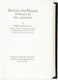 Books:Religion & Theology, Mary Baker Eddy. LIMITED. Science and Health with Key to the Scriptures. Boston: Published by the Trustees under the...
