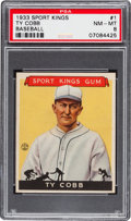 Baseball Cards:Singles (1930-1939), 1933 Sport Kings Ty Cobb #1 PSA NM-MT 8....