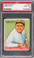 Baseball Cards:Singles (1930-1939), 1933 Goudey Babe Ruth #181 PSA NM-MT 8....