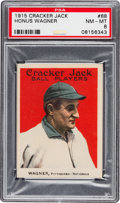 Baseball Cards:Singles (Pre-1930), 1915 Cracker Jack Honus Wagner #68 PSA NM-MT 8....