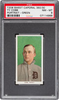 Baseball Cards:Singles (Pre-1930), 1909-11 T206 Sweet Caporal Ty Cobb Portrait Green Back PSA NM-MT8....