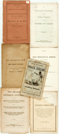 Books:Americana & American History, [Americana/Civil War/Reconstruction]. Group of Seven Pamphlets andBooks. Various publishers and dates. ... (Total: 7 Items)