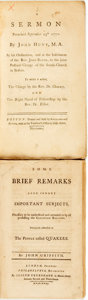Books:Americana & American History, [Americana/Religion/Sermons]. Pair of Pamphlets. Various publishersand dates. ... (Total: 2 Items)