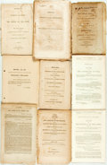 Books:Americana & American History, [Americana]. Group of Nine Political Messages, Letters andAddresses. Various publishers and dates. ... (Total: 9 Items)