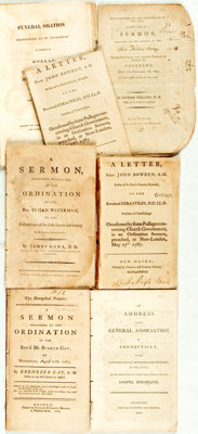 [Americana/Religion/Sermons]. Group of Seven Pamphlets. Various publishers and dates
