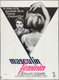 "Movie Posters:Foreign, Masculine, Feminine (Columbia, 1966). French Grande (45.5"" X 62""). Foreign.. ..."