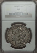 Morgan Dollars: , 1893-CC $1 Fine 12 NGC. NGC Census: (161/3037). PCGS Population (287/5655). Mintage: 677,000. Numismedia Wsl. Price for pro...