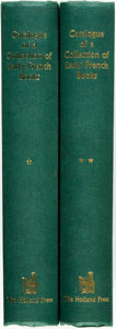 Books:Reference & Bibliography, [Bibliography]. Hugh Wm. Davies. Catalogue of a Collection ofEarly French Books in the Library of C. Fairfax Murray, ...(Total: 2 Items)