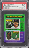 Baseball Cards:Singles (1970-Now), 1975 Topps Mini 1956-MVP's Mantle/Newcombe #194 PSA Mint 9....