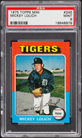 Baseball Cards:Singles (1970-Now), 1975 Topps Mini Mickey Lolich #245 PSA Mint 9....