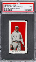 "Baseball Cards:Singles (Pre-1930), 1910 E98 ""Set of 30"" Cy Young - Red (Black Swamp Find) PSA NM 7...."