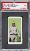"Baseball Cards:Singles (Pre-1930), 1910 E98 ""Set of 30"" Cy Young - Green (Black Swamp Find) PSA NM 7...."