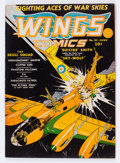 Golden Age (1938-1955):War, Wings Comics #10 (Fiction House, 1941) Condition: VG/FN....
