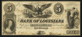 Obsoletes By State:Louisiana, New Orleans, LA- The Bank of Louisiana $5 Apr. 5, 1860 G10a. ...